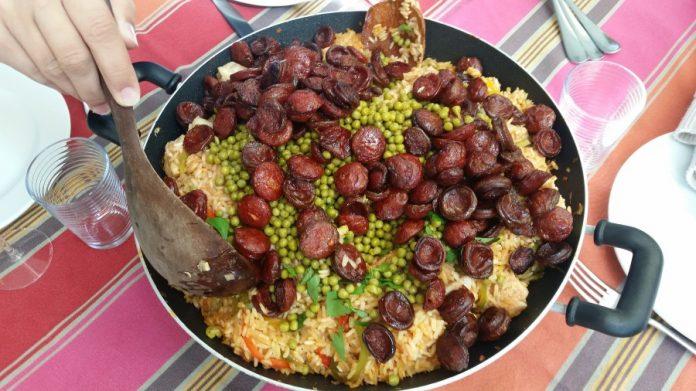 Rijstschotel met Chorizo