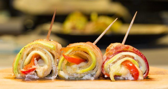 Spaanse ham met vis
