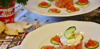 komkommershijven met zalm